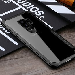 Wholesale Hard Transparent Plastic - Wholesale iPaky Case For Samsung S9 Transparent Back Cover S9 Plus PC+TPU 2 In 1 Hard Soft Cases