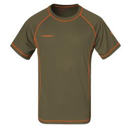2019 corrida livre camisetas Caminhadas de verão respirável t shirt homens quick dry coolmax homme camping fitness pesca correndo t-shirt frete grátis corrida livre camisetas barato
