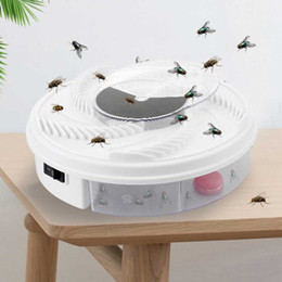 Mosca trampa eléctrica online-Eléctrico USB Automático Flycatcher Fly Trap Control de plagas Control de mosquitos Mosquito Flying Fly Killer Trampas de insectos USB Powered Fly Catcher