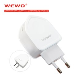 cell phone charger types Coupons - WEWO EU US Plug Fast Charger USB Wall Adapter 1M Micro USB Cable Type-C Retail Package Dual Port Cell Phone Charger for iPhone