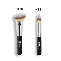 Wholesale Black Highlights - Brand Professional Makeup Brushes it cosmetics #10 Heavenly Luxe Angled Radiance Brush blending highlighting and sculpting make up brushes.