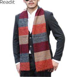 Wholesale Winter Mufflers Men - Winter Scarf Men Cotton Shawls And Scarves Stripe Scarfs Male Scarf Warm Shawl Black Muffler Foulard SC1481