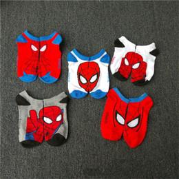 Spider-Man Dos Desenhos Animados Meias 5 Estilo Crianças Super Hero Meias De Algodão Frete Grátis B0217 de