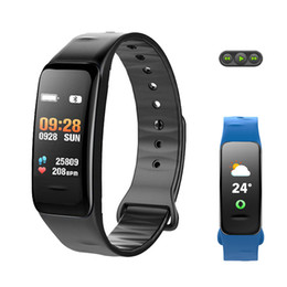 Wholesale Running Watches Heart Rate - 2018 Color Life Touch Smart Watch Remote Music Heart Rate Blood Pressure O2 Monitor APP GPS Run For Apple Lenovo Huamia PK Fit 3