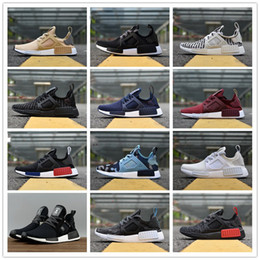 Wholesale camo football - 2018 NMD XR1 Running Shoes Mastermind Japan Skull Fall Olive green Camo Glitch Black White Blue zebra Pack men women sports shoes 36-45