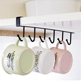 Wholesale Iron Stocking Holders - Iron Kitchen Storage Rack Cupboard Hanging Hook Shelf Dish Hanger Chest Storage Shelf Bathroom Organizer Holder
