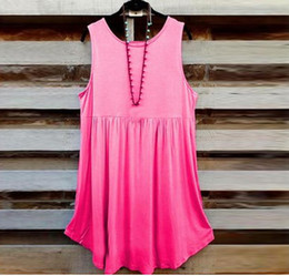 Wholesale crops for sale - Cotton Crop Tops Hot Sale Vest Shirt Blouse Women Fashion Plus Size Vest Summer Sleeveless Pullover T shirts For Female Tee