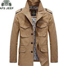 Afs Jeep 2018 Autunno Inverno Moda New Mens Giacche e cappotti Solid Casual uomo in cotone Giacche a vento veste homme Cappotto Maschio 4XL