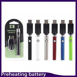 Wholesale G5 Pens - Preheating Vertex Battery 350mah Pre-heat vs Touch Vape O Pen for ccell G5 Th205 Mt6 Preheat Glass oil Vaporizer Cartridge 0266137