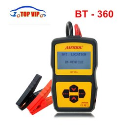 Wholesale 12v Battery Analyzer Tester - Original Autool BT360 Battery Tester 12V Automotive Battery Analyzer 2000CCA 220AH Multi-Language Charging System Tester