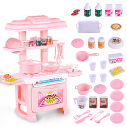 kids playing kitchen sets 2018 - Kids Kitchen Set Children Kitchen Toys Large Cooking Simulation Model Colourful Play Educational Toy for Girl Baby new