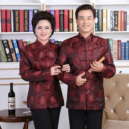 2019 jaquetas estilo chinês mulheres Chegam novas Tang Suit Chinês Tradicional Jaquetas Homens Mulheres Manga Comprida Tops Traje Chinês Estilo Blusa De Casamento jaquetas estilo chinês mulheres barato