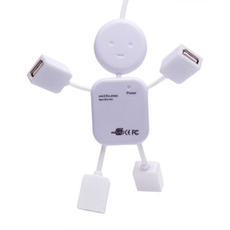 Wholesale Usb Hub Design - 4 Port USB 2.0 High Speed Hub for PC Laptop Doll Man Design White