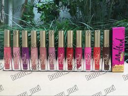 diferentes fábricas Rebajas Directo de Fábrica DHL Envío Gratis Nuevos Labios de Maquillaje Derretido Mate Lápiz Labial Líquido No Stick Copa Persistente Lipgloss! 12 Colores Diferentes