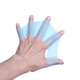 Luvas webbed para natação on-line-Luvas da aleta da palma da mão de Webbed do treinamento da nadada da palma da natação do silicone para crianças das mulheres dos homens