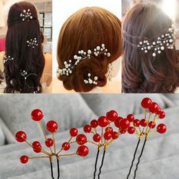 Wholesale Crystal Star Hair Pins - Wholesale 40PCS Wedding Accessories Bridal Pearl Hairpins Flower Crystal Pearl Rhinestone Hair Pins Clips Bridesmaid Venetian pearl