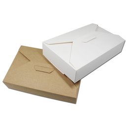 Wholesale Handmade Packaging For Candy - 80Pcs Lot DHL 19.5*12.5*4cm Kraft Paper Handmade Gifts Package Jewelry Candy Storage Box For Party Wedding Favor Crafts Pack Box