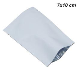 200 шт. / лот Белый 7x10 см алюминиевая фольга майлар открытый топ сумки вакуумные Термосвариваемые образцы пакетов майлар фольги мешочки для кофе чай порошок cheap sampling bags от Поставщики пробоотборные мешки
