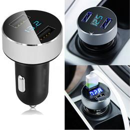Leichter usb ladegerät online-Auto Ladegerät 5V / 3.1A Schnellladung Dual USB Port Zigarettenanzünder Adapter Spannung Freies Verschiffen