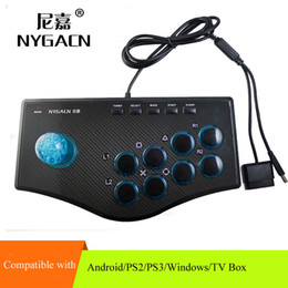 pc arcade controller Promo Codes - PC arcade game controller computer streeting fighting gamepad with long 8-axis joystick and turbo function for Windows 7 8 10