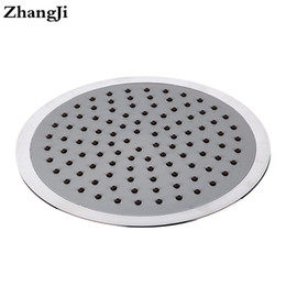 Wholesale auto thermostats - ZhangJi 8 inch big waterfall showerhead Silica gel holes Water Saving shower sprayer Electroplated 20cm Round Shower Head ZJ066
