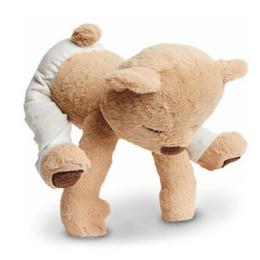 großhandel plüsch hai Rabatt 40 cm yoga bär plüschtier kreative nette gefüllte puppen weichen komfort baby toys geburtstagsgeschenk für kinder kinder freundin y30