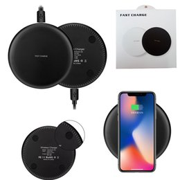 Wholesale Fast Packaging - For iPhone X 8 Plus Qi Fast Wireless Charger Quick Charger Charging 9V 1.67A 5V 2A For Samsung S7 Edge S8 Plus Note 8 With Retail Package