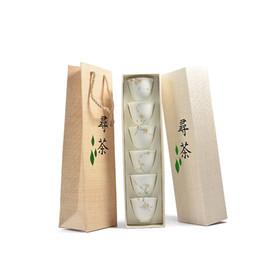 Faça porcelana on-line-PINNY 6 Pcs Mão Pintada Porcelana Branca TeaCups Feitas À Mão Xícara De Chá Chinês Kung Fu Chá Set Tigela De Chá De Cerâmica De Alta Qualidade