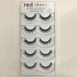 Nuovo design Red Cherry 3D Ciglia finte 5 paia / pacco 8 Stili Naturale Lungo Trucco professionale Occhi grandi Alta qualità da