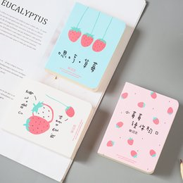 cuadernos de palabras Rebajas 1X Cute Kawaii Strawberry Vocabulary Notebook Recite Words Learn Foreign Language Planner Estudiante Rewarding School Material de oficina