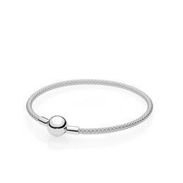 Bracciale catena d'argento 925 moda donna di lusso scatola originale per fascini Pandora filo d'argento tessuto braccialetto set bracciale supplier 925 wire da 925 filo fornitori
