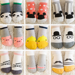 Wholesale infant cartoon animal socks - Newborn Cotton Baby soft floor socks Boys Girls Cute Cartoon animal Baby Toddler Socks infant Anti-slip socks