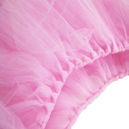 botín de mesa de bodas de oro Rebajas mesa de tul de calidad superior sólido 100 * 80 cm Mesa de restaurante tul falda festival de banquetes falda tutú etapa de boda de estilo europeo