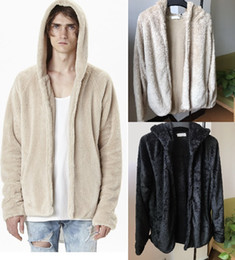 Wholesale Mens Cardigan Sweaters Xl Black - 2018 Hot Mens cashmere sweater Fur Hoodies Sweatshirts autumn winter casual with a hood sport jacket streetwear mens hoodies