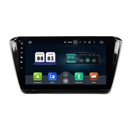 Wholesale Steering Wheel Mp3 Player - 10.1inch Octa core Andriod 6.0 Car DVD player for Skoda Superb 2015 with GPS,Steering Wheel Control,Bluetooth, Radio