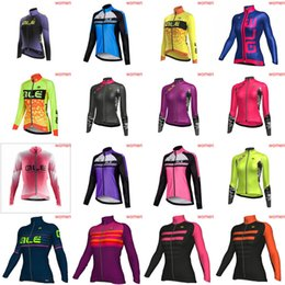 Wholesale Woman Cycling Jersey Blue - NEW ALE team Cycling long Sleeves jersey women 2018 hot mtb bike outdoor High Quality Sweatshirt Ropa Ciclismo D0927