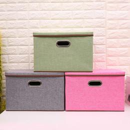 Wholesale wholesale kids bra - new Fabric Folding clothes storage box for Socks Underwear Ties Bra Cosmetics kid toys Storage Box Clothing bin 8colors