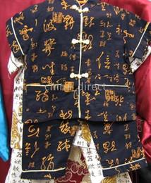 Wholesale Martial Art Chinese Uniform - Art Chinese,Tai Suit,silk uniform tracksuits Short Tops Pants 20sets lot nice Kungfu suits Martial