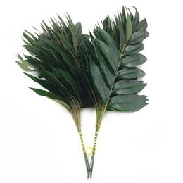 2019 pianta di bambù artificiale Artificiale bambù laminato albero foglia verde vegetale Foglia di bambù finto per decorazione floreale flore Arrangiamento decorazione pianta di bambù artificiale economici