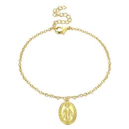 pendentif ovale plaqué or en gros Promotion Hemiston Mode Classique Plaqué Or Ovale Dame Pendentif Bracelets Bracelet pour Femmes Hommes Cadeau En Gros TS AKH006