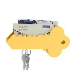 Wholesale mail holders - Home Wall Decorative Big Key Holder Box Plastic Hanging Mail Sundries Organizer Rack Shelf Magnetic Key Holder