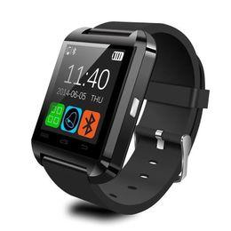 Wholesale German Outdoor Wear - Smartwatch Bluetooth Smart Watch U80 for iPhone IOS Android Smart Phone Wear Clock Wearable Device Smartwach PK U8 GT08 DZ09 W8