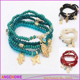 bracelets en gros en europe Promotion Mode en gros en Europe et en Amérique style frais multicouche perles bracelet palmier breloque charme bracelets livraison gratuite
