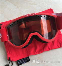Wholesale Masking Stickers - Retail Cool Sm1th Cariboo OTG Ski Goggle Goggles Black and Red mask for skiing Ride glasses Worker glasses With Stickers