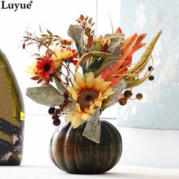Luyue Boutique Officiel Citrouille De Tournesol Costume Décoration De Festival Fleurs De Soie Artificielle Halloween Décoration Bonsaï ? partir de fabricateur