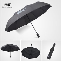Wholesale Windproof Umbrella Golf - NX Golf Single Layer Windproof Umbrella Three Folding 105cm parasol male Commercial Automatic business umbrella free shipping