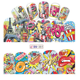 Wholesale nail art cute designs - China tips art Suppliers 12 Designs Sets Fashion Sticker Full Cover Lips Cute Printing Water Transfer Tips Nail Art Decorations