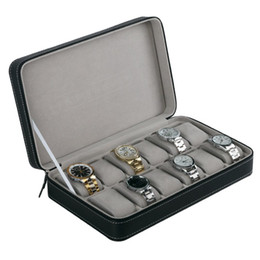 bracelet multi style Promotion Organisateur de stockage de boîte de montre de 12 fentes avec la fermeture éclair