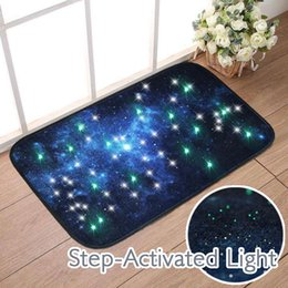 Wholesale door step light - 40*60cm LED Lights Door Mats Anti-slip Carpet Floor Mat Outdoor Rugs Step Activated Bath Mat Bathroom Rugs