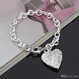 Chaude 925 en argent sterling chaîne bracelet coeur rue style bijoux de mode cadeaux de Noël bas prix livraison gratuite ? partir de fabricateur